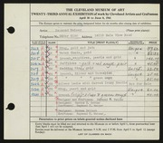 Entry card for Weiser, Raymond T., and Potter, Horace Ephraim; Dellert, Norman for the 1941 May Show.