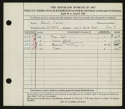 Entry card for Zerlin, Robert for the 1941 May Show.