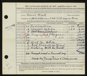 Entry card for Hall, Doris Elizabeth for the 1942 May Show.