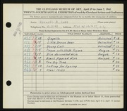 Entry card for Ives, Kenneth B. for the 1942 May Show.