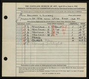 Entry card for Luckay, Dolores L. for the 1943 May Show.