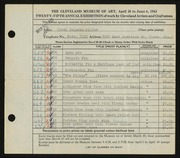 Entry card for Miller, Carol Hagaman for the 1943 May Show.