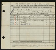 Entry card for Prior, Marna A. for the 1943 May Show.
