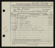 Entry card for Billmyer, John E. for the 1944 May Show.