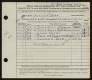 Entry card for Born, Augusta for the 1944 May Show.