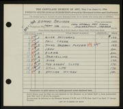 Entry card for Brucker, Edmund for the 1944 May Show.