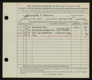 Entry card for Hartman, Eleanor P. for the 1944 May Show.
