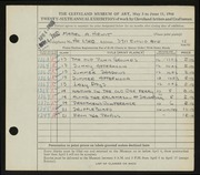 Entry card for Hewit, Mabel A. for the 1944 May Show.
