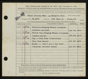 Entry card for Nace, Dorothy, and Nace, Margaret for the 1944 May Show.