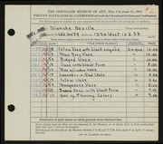 Entry card for Neville, Blanche for the 1944 May Show.