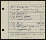 Entry card for Peck, Edith Hogen for the 1944 May Show.