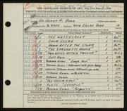 Entry card for Rood, Henry A., and Pottery Craftsmen for the 1944 May Show.
