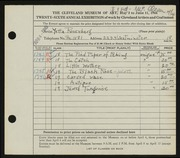 Entry card for Rosenberg, Yetta for the 1944 May Show.