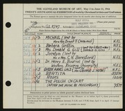 Entry card for Stoll, Rolf for the 1944 May Show.