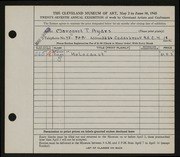 Entry card for Ayars, Margaret T. for the 1945 May Show.
