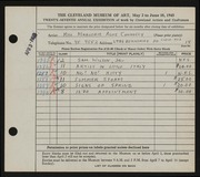 Entry card for Connolly, Marjorie Alice for the 1945 May Show.