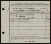 Entry card for Dobrotka, Edward W. for the 1945 May Show.