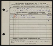 Entry card for Douglas, Morgan Drexel, Jr. for the 1945 May Show.