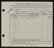 Entry card for Gutschmidt, Normal Paul for the 1945 May Show.