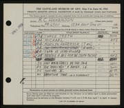 Entry card for Hakanson, R. C. for the 1945 May Show.