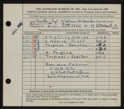 Entry card for Harnden, William H. for the 1945 May Show.
