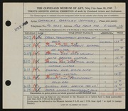 Entry card for Jeffery, Charles Bartley for the 1945 May Show.