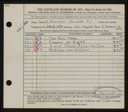 Entry card for Morrison, Doris C. for the 1945 May Show.