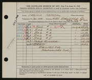 Entry card for Nepodal, Virginia for the 1945 May Show.