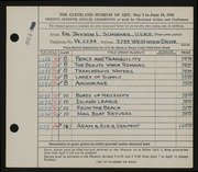 Entry card for Schoener, Jason for the 1945 May Show.