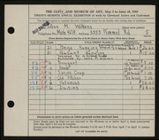 Entry card for Wilkens, Lillian M. for the 1945 May Show.