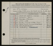 Entry card for Wilson, Ethel L. for the 1945 May Show.