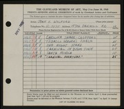 Entry card for Kennedy, Jean for the 1945 May Show.