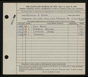 Entry card for Wood, Kenneth A. for the 1945 May Show.