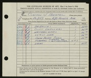 Entry card for Bachtel, Clayton J. for the 1946 May Show.