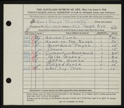 Entry card for Burdette, Ann Blaine for the 1946 May Show.