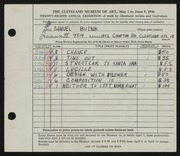 Entry card for Butnik, Samuel for the 1946 May Show.