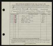 Entry card for Davidson, Myron Russell for the 1946 May Show.