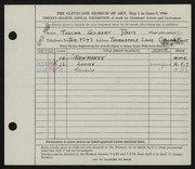 Entry card for Davis, Thelma Gilbert for the 1946 May Show.