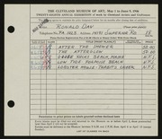 Entry card for Day, Ronald Nelson for the 1946 May Show.