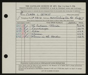Entry card for Deike, Clara L. for the 1946 May Show.
