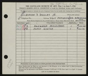Entry card for Douglas, Morgan Drexel, Jr. for the 1946 May Show.