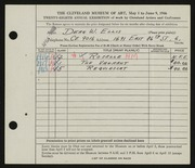 Entry card for Ellis, Dean W. for the 1946 May Show.