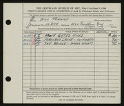 Entry card for Frahme, Bill for the 1946 May Show.
