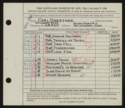 Entry card for Gaertner, Carl Frederick for the 1946 May Show.