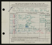 Entry card for Giorgi, Clement C. for the 1946 May Show.