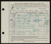 Entry card for Giorgi, Fern M. for the 1946 May Show.