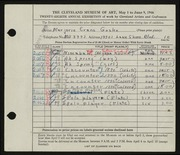 Entry card for Goslee, Marjorie Eileen Evans for the 1946 May Show.
