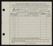 Entry card for Gutschmidt, Normal Paul for the 1946 May Show.