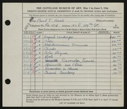 Entry card for Haas, Paul Thomas for the 1946 May Show.