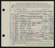 Entry card for Hall, Doris Elizabeth, and Kubinyi, Kalman for the 1946 May Show.